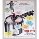 1947 Wear Ever Aluminum Pressure Cooker Color Print Ad