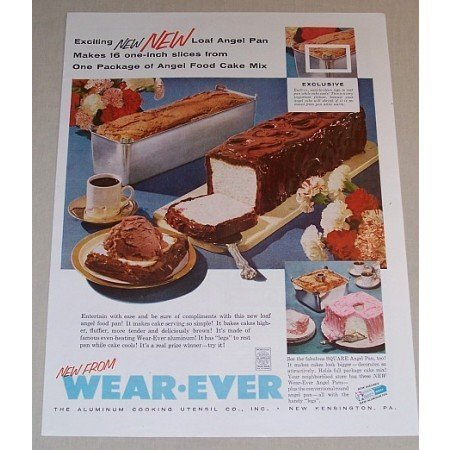 1957 Wear Ever Loaf Angel Aluminum Pan Color Print Ad