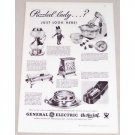 1933 General Electric Hotpoint Gifts Vintage Print Ad - Puzzled Lady?