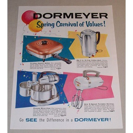 1957 Dormeyer Small Kitchen Appliances Color Print Ad