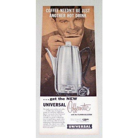 1958 Universal Coffeematic Coffee Maker Color Print Ad