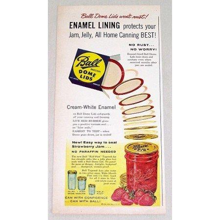 1958 Ball Mason Dome Lids Color Print Ad