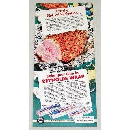 1953 Reynolds Wrap Aluminum Foil Color Print Ad