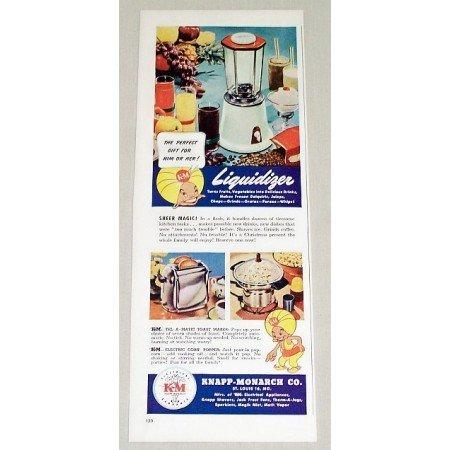 1947 Knapp Monarch Liquidizer Blender Color Print Ad