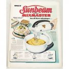 1948 Sunbeam Automatic Mixmaster S Mixer Color Print Ad