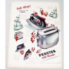 1948 Proctor Small Appliances Color Print Ad - Gift Parade