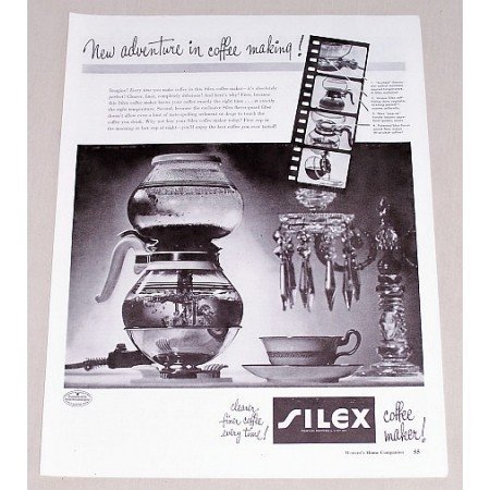 1947 Silex Coffee Maker Vintage Print Ad - New Adventure