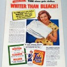1952 Tide Detergent Vintage Color Print Ad
