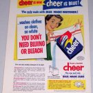 1954 Procter Gamble's Cheer Detergent Vintage Print Color Art Ad