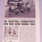 1953 Rid-Jid Ironing Table Print Ad Minneapolis Lakers Celebrity Basketball Star George Mikan