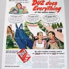 1948 Duz Detergent Color Print Art Ad