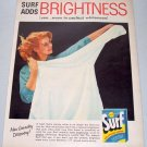 1957 Surf All Purpose Detergent Color Print Ad