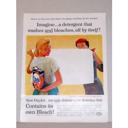 1957 Oxydol Detergent Vintage Print Color Ad