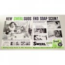1948 Swerl Magic Suds 2 Page Vintage Print Ad - Ends Soap Scum