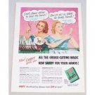 1952 Dreft Dishwashing Detergent Color Print Ad - Safe Hands