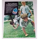 1968 Purex Super Bleach Color Print Ad - Wheelbarrow Race