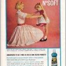 1960 NuSoft Fabric Softener Color Print Ad - Wash 'N' Wears