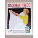1957 Surf Whitener Detergent Color Print Ad - Surf Adds Brightness