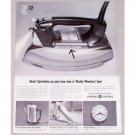 1962 General Electric Spray Steam Dry Iron Vintage Print Ad