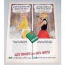 1954 Dreft Dish Detergent Color Print Ad