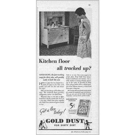 1931 Fairbanks Gold Dust Washing Powder Vintage Print Ad
