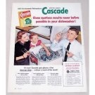 1956 Cascade Dishwashing Detergent Color Print Ad