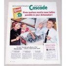 1956 Cascade Dishwashing Detergent Color Print Ad