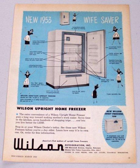1953 Wilson Upright Home Freezer Model AF-150 Vintage Appliance Vintage Print Ad