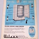 1953 Wilson Upright Home Freezer Model AF-150 Vintage Appliance Vintage Print Ad