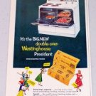 1952 Westinghouse Double Oven Electric Range Vintage Color Appliance Color Print Ad