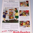 1949 Kelvinator Refrigerator Color Appliance Print Ad