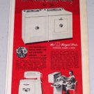 1954 Speed Queen Automatic Washer Dryer Appliance Vintage Color Print Ad