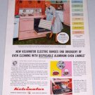 1955 Kelvinator Electric Stove Range Color Appliance Color Print Ad