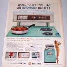 1960 GE General Electric Model J308 Sensi-Temp Cooking Range Stove Color Print Ad