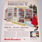 1957 Kelvinator Foodarama Refrigerator Color Print Ad