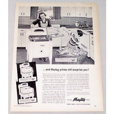 1948 Maytag Commander Wringer Washer Vintage Print Ad