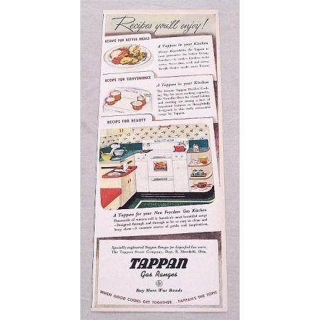 1945 Tappen Gas Ranges Stove Color Print Ad