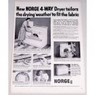 1956 Norge 4 Way Model D5 Dryer Vintage Print Ad