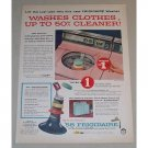 1958 Frigidaire Ultra-Clean Washers Color Print Ad