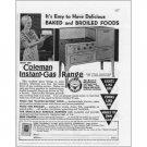 1931 Coleman Instant Gas Range Stove Vintage Print Ad