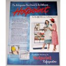 1948 Hotpoint Refrigerator Color Print Ad - Dared To Be Different