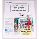 1944 Frigidaire Refrigerator Color Print Ad - Winter Summer