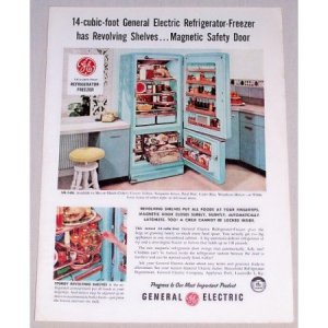 1941 Vintage Ge Refrigerator by Tilo