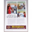 1935 Westinghouse Streamline Refrigerator Color Print Ad