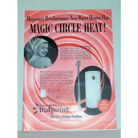 1948 Hotpoint Electric Water Heaters Color Print Ad
