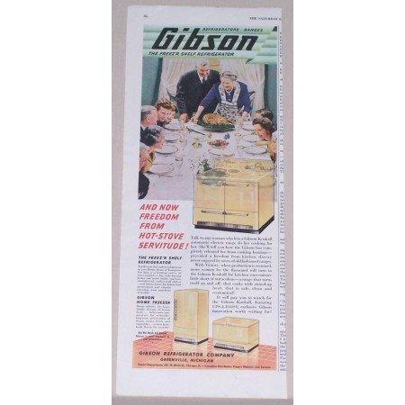 1945 Gibson Kitchen Appliances Color Print Ad
