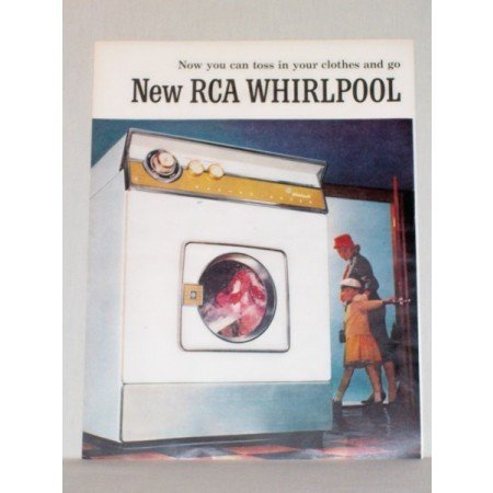 1957 RCA Whirlpool Washer Dryer 2 Page Color Print Ad
