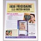 1938 Frigidaire Refrigerator Meter Miser Color Print Ad