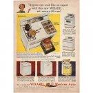 1955 Western Auto Wizard Kitchen Range Color Print Ad