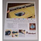 1958 RCA Whirlpool Washer Color Print Ad - Fabric Control
